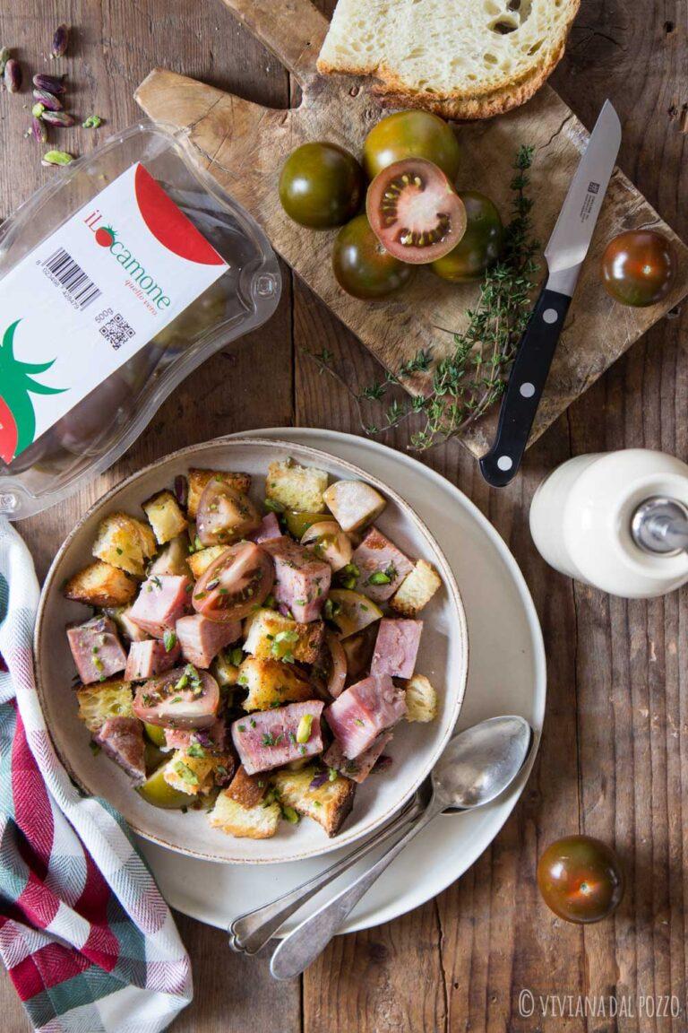insalata di tonno e crostini con iLcamone