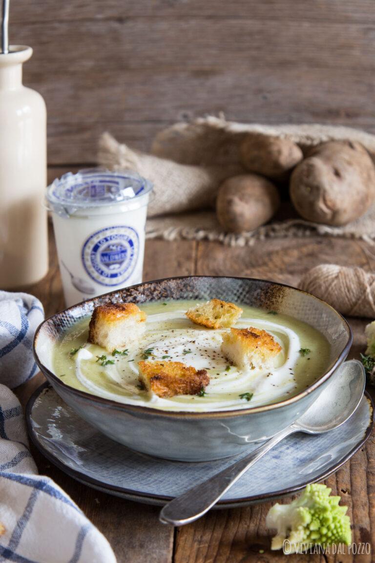 vellutata romanesco e yogurt